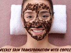 Weekly Skin Transformation With Coffee